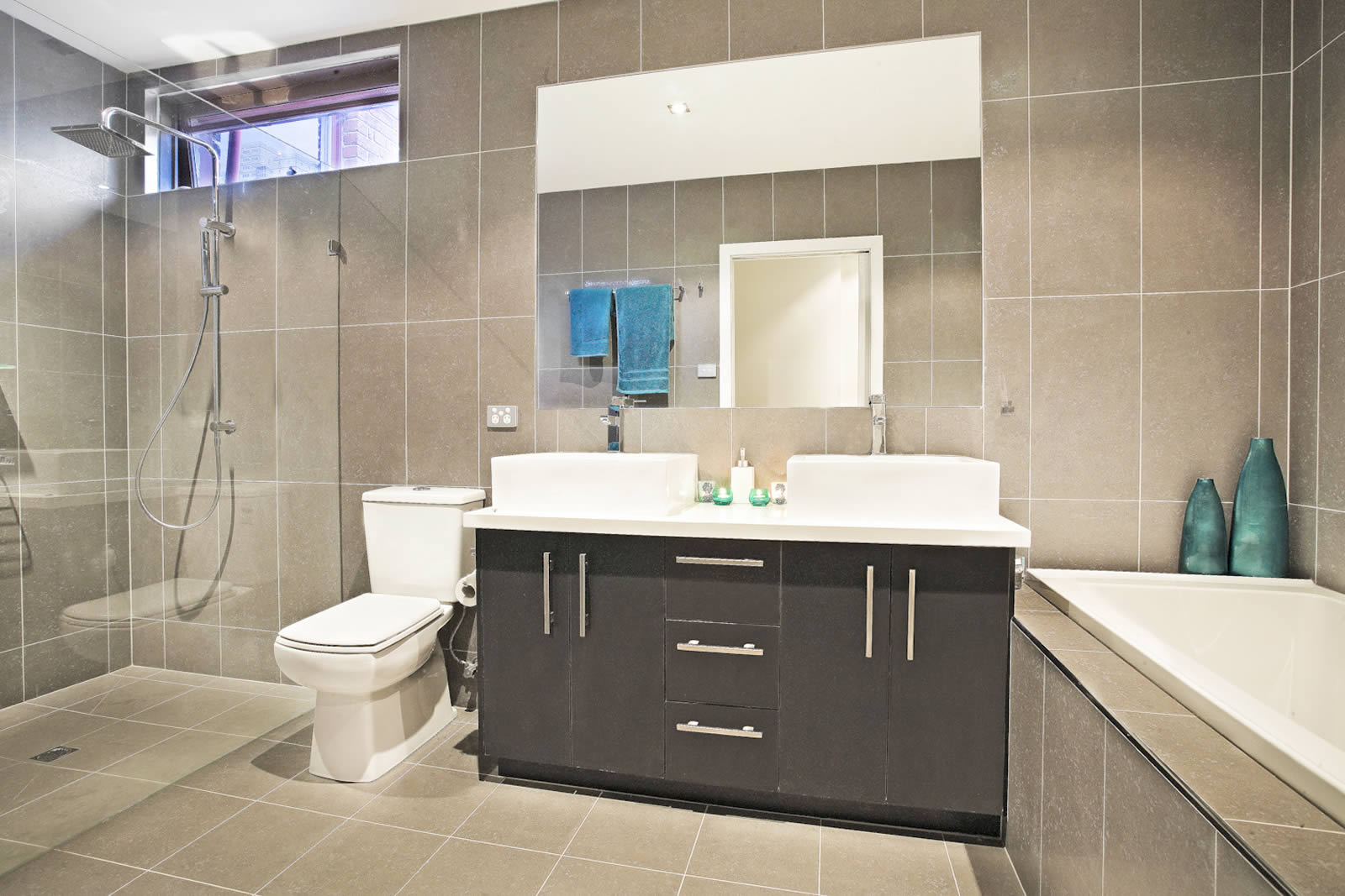 Our work contemporary bathrooms archives cos interiors for Bathroom decor melbourne