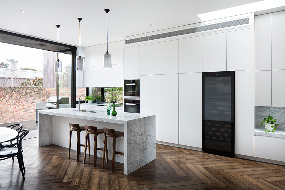 Sleek White Interior Cabinetry - Albert Park