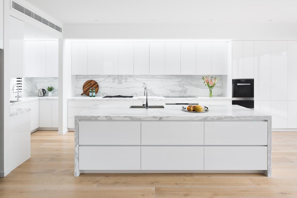 Sleek White Kitchen - Middle Park